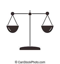 silueta, escala, icono, balance, estilo