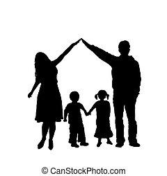 silueta, família
