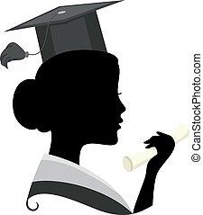 silueta, graduado