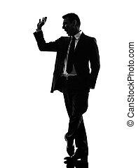 silueta, hombre, esnob, afeminado, empresa / negocio