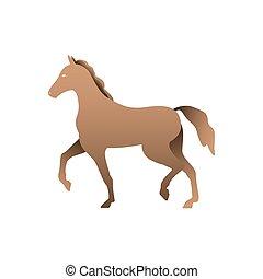 silueta, horse.