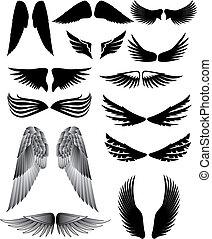 silueta, křídlo