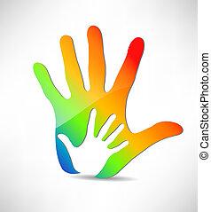 silueta, mãos
