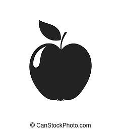 silueta, maçã