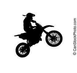 silueta, motocicleta