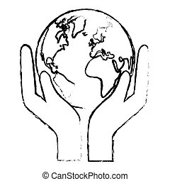 silueta, mundo, naturaleza, conservancy, icono