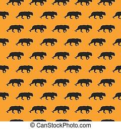 silueta, padrão, seamless, tiger, fundo, laranja