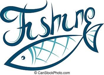 silueta, peixe, desenho