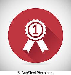 silueta, prêmio, fitas, símbolo, ilustração, vetorial, desenho, distinção, modelo, ícone, emblema, vitória