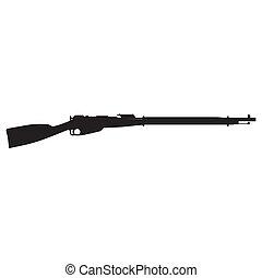 silueta, rifle