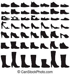 silueta, sapatos