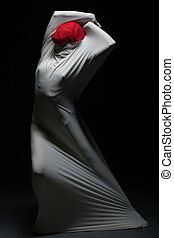 silueta, self-torture, -, idea, hembra, faceless