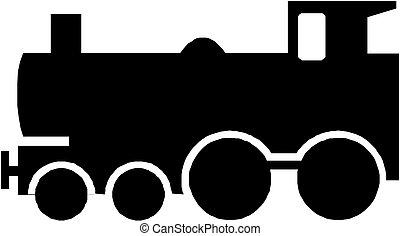 silueta, trem