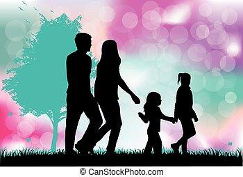 siluetas, familia