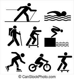 siluetas, figuras, ejercitar