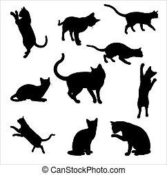 siluetas, gato