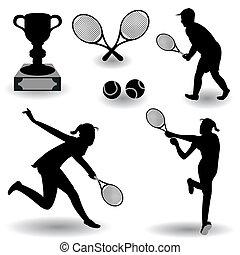 siluetas, tenis