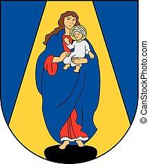 Siluva city coa - Various vector flags, state symbols,...