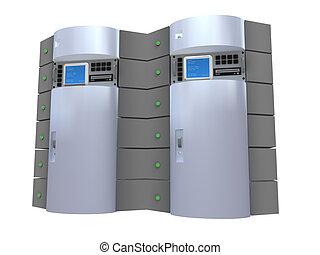 Silver 3d Server.