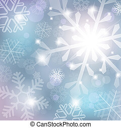 Silver abstract background with snowflake vector...