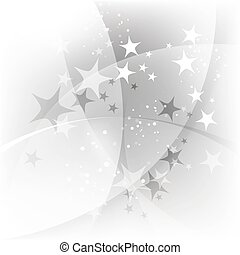 Silver abstract background with stars
