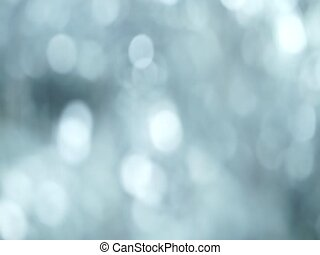 Silver Abstract blured light bokeh lights rotation...