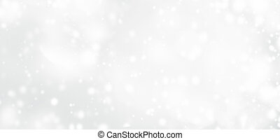 Silver abstract bokeh background with snowflake and white...