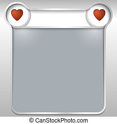 silver abstract text box with hearts