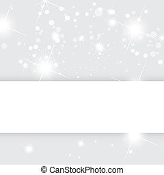 Silver abstract vector background, Christmas template