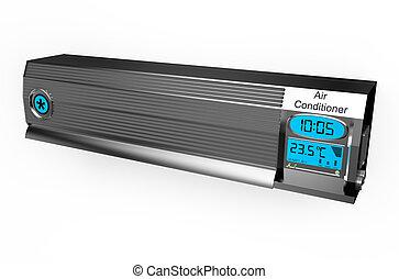 Silver air conditioner