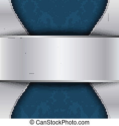 Silver and blue template with place for text