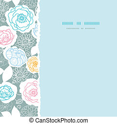 Silver and colors florals square torn seamless pattern background