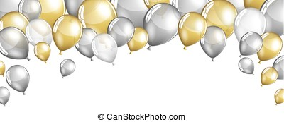 Silver and gold balloons