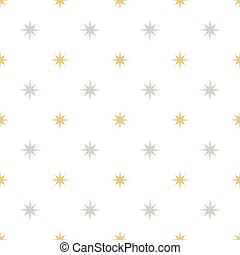 Silver and gold stars pattern