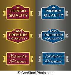 Silver and golden labels