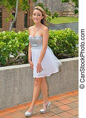 Silver and white tutu - Teenage girl in her silver and white...