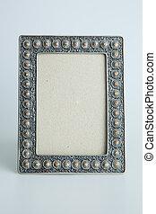 Silver antique frame