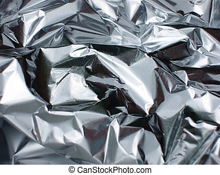Silver background - Crinkled tinfoil as a background