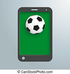 Silver Background Smartphone Football
