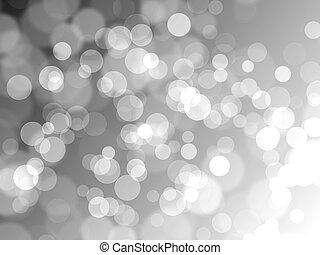 Silver Background with Blured Bokeh Lights.
