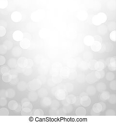 Silver Background With Bokeh With Gradient Mesh, Vector...