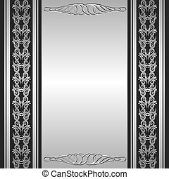 silver background with ornaments