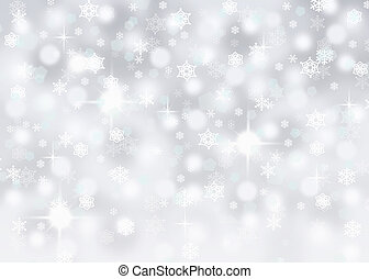 silver background with snowflakes