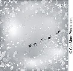 Silver background with sparkles star. Vector