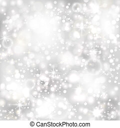 Silver background with stars and twinkly lights. EPS10