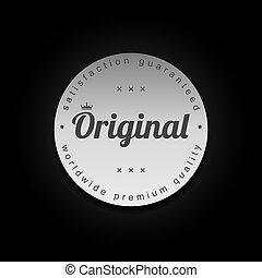 silver badge label theme