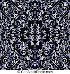 Silver baroque pattern