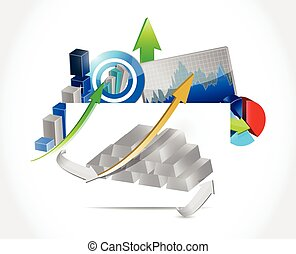 silver bars business concept illustration design over a...