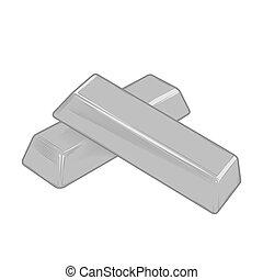 Silver bars. vector illustration.