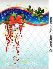 Silver bells winter background